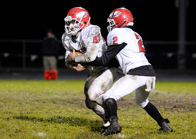 Don Knight | The Herald Bulletin Lapel hosted Frankton in the first round of the sectional on Friday.