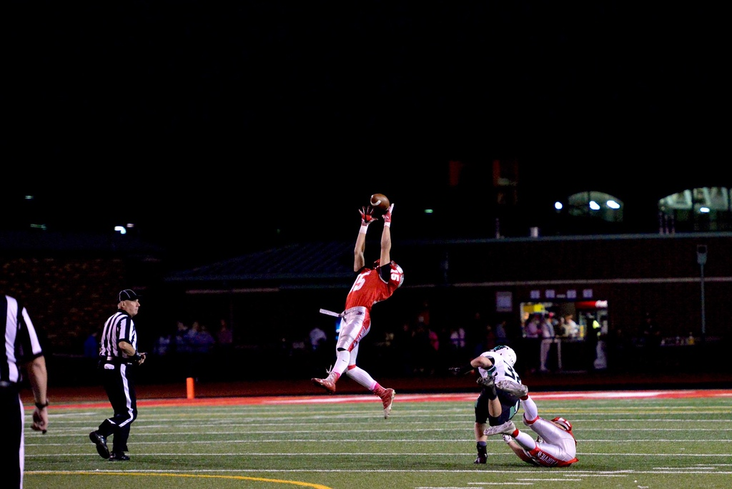 . Aimee Bielozer - The Morning Journal<br> Fairview\'s Jack Provenza makes a leaping grab on Oct. 20 against Columbia.