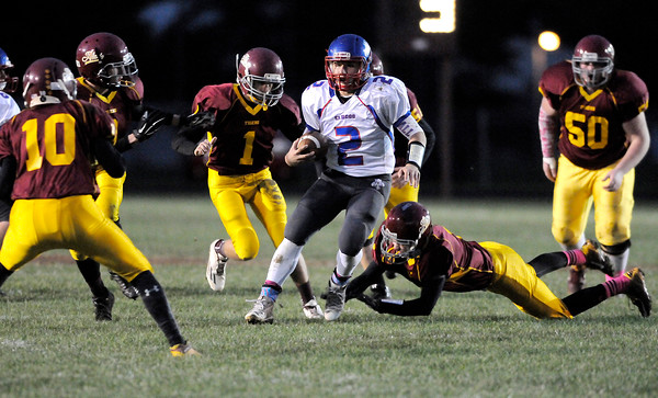 Don Knight | The Herald Bulletin<br /> Alexandria hosted Elwood during the sectional opener on Friday.