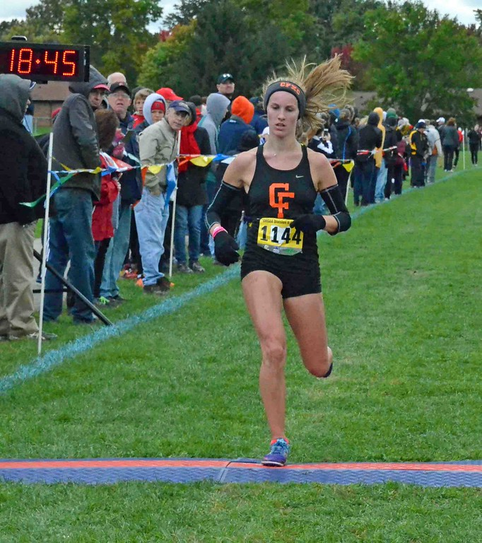. Paul DiCicco - The News-Herald  2nd Place finish in Division II, Annie Zimmer, Chagrin Falls