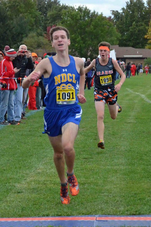 . Paul DiCicco - The News-Herald 1st Place finish in Division II, Tommy Caraballada, NDCL and 2nd Place finish by Josh Cramer, Orange.