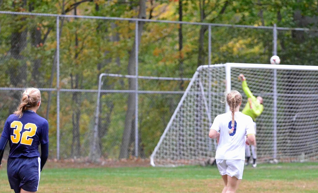 . Paul DiCicco - The News-Herald Photos from the Kirtland-Wickliffe girls soccer district semifinal match on Oct. 23. Kirtland won, 2-1, in overtime.