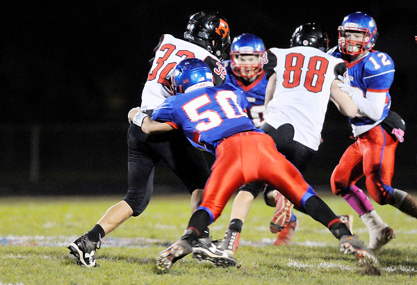 Don Knight | The Herald Bulletin<br /> Elwood hosted Blackford in the sectional 36 semifinal on Friday.