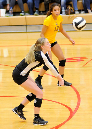 Don Knight | The Herald Bulletin<br /> Volleyball semistate at Plymouth High School on Saturday.