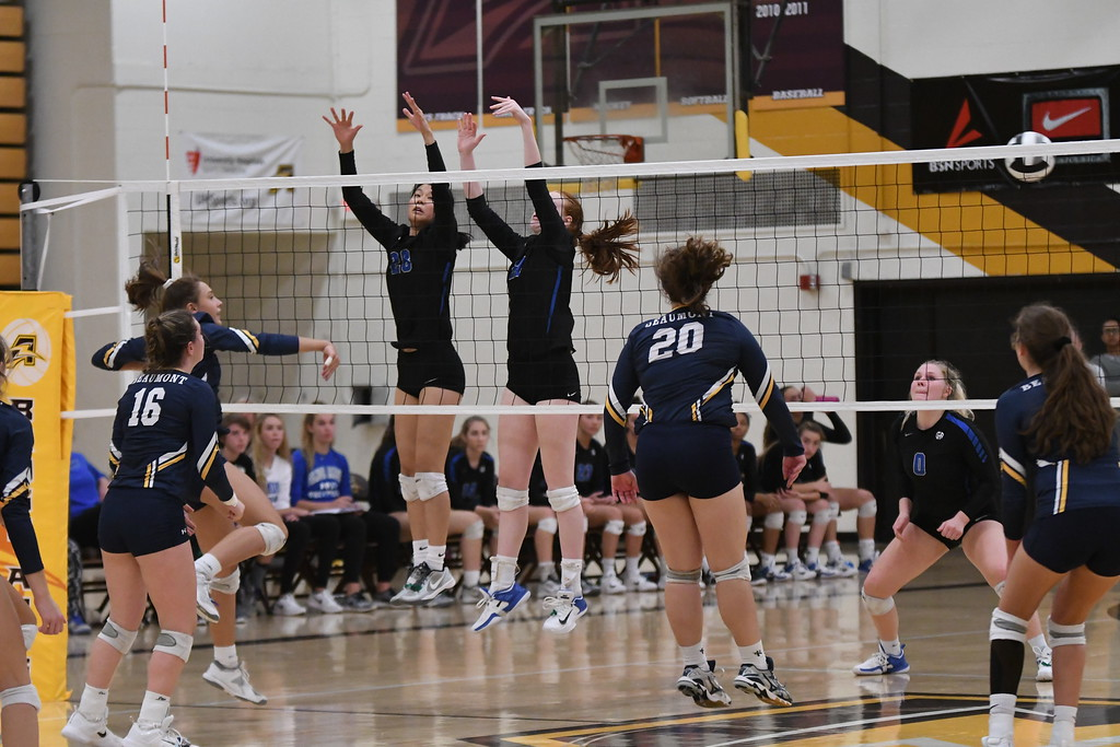 . Patrick Hopkins - The News-Herald Photos from the Beaumont-Gilmour Division II district final volleyball match on Oct. 28 at Brush.
