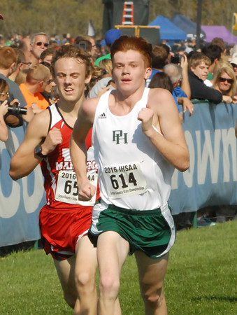 David Humphrey   For The Herald Bulletin<br /> IHSAA Cross Country State Finals.