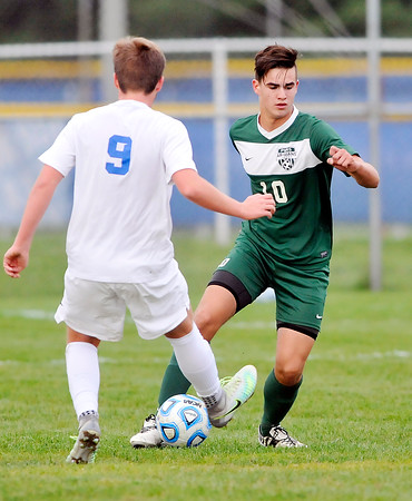 John P. Cleary   The Herald Bulletin<br /> Pendleton Heights vs Hamilton SE in boys soccer sectional play.