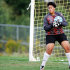 Don Knight | The Herald Bulletin<br /> Anderson goalie Alexis Fairer makes a save as the Indians faced the Pendleton Heights Arabians in the opening game of the girls soccer sectional at Noblesville on Tuesday.