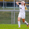 Don Knight | The Herald Bulletin<br /> Pendleton Heights Taylor Fort reacts after missing a shot on goal as the Arabians faced Hamilton Southeastern on Thursday.