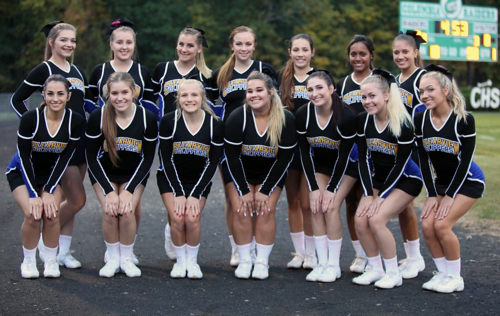 . Randy Meyers - The Morning Journal<br> Clearview\'s varsity cheerleaders pose for a photo prior to Friday\'s game aginst Columbia.