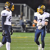 Jon Behm - The Morning Journal<br /> Olmsted Falls defensive back Josh Goodwin (7) talks with linebacker Tommy Pettry (22) between quarters on Nov. 4.