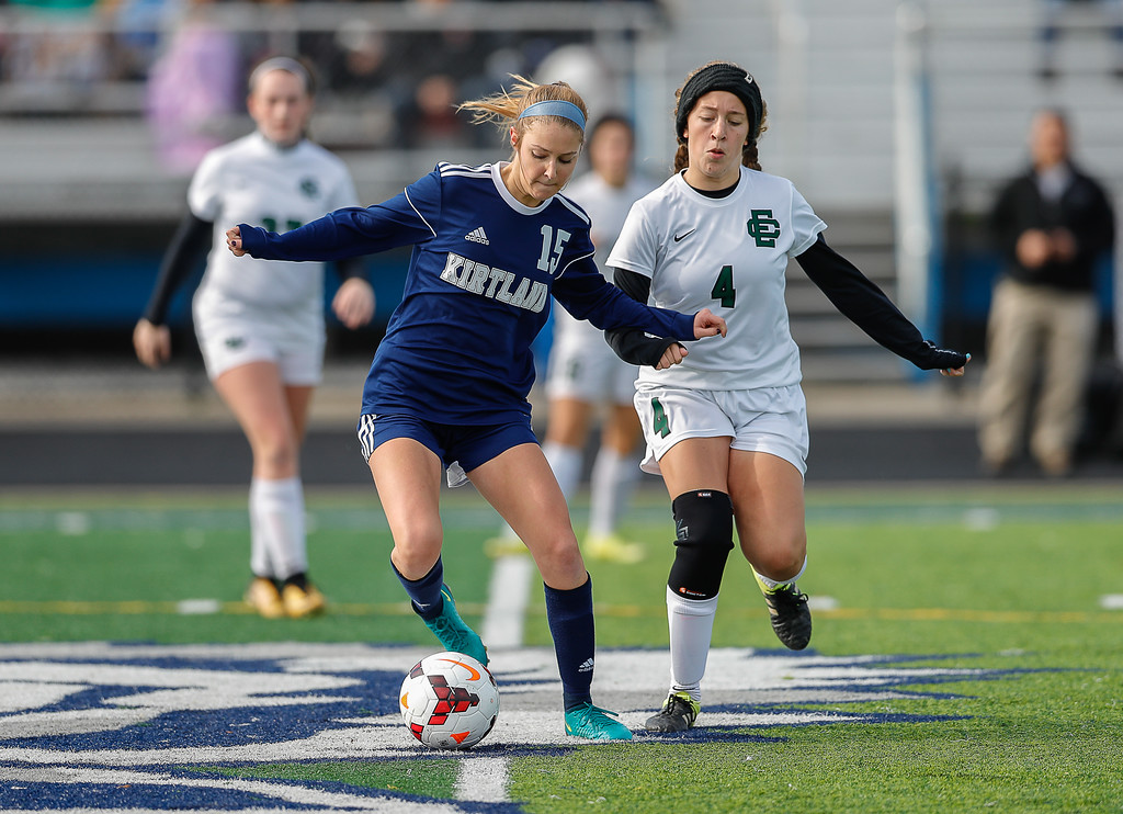 . Anton Albert - The News-Herald Photos from the Elyria Catholic-Kirtland girls soccer regional final on Nov. 4.