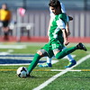 Anton Albert - The News-Herald<br /> Lake Catholic's  Josue Gomez prepares to kick the ball during a regional final against Revere on Nov. 5.