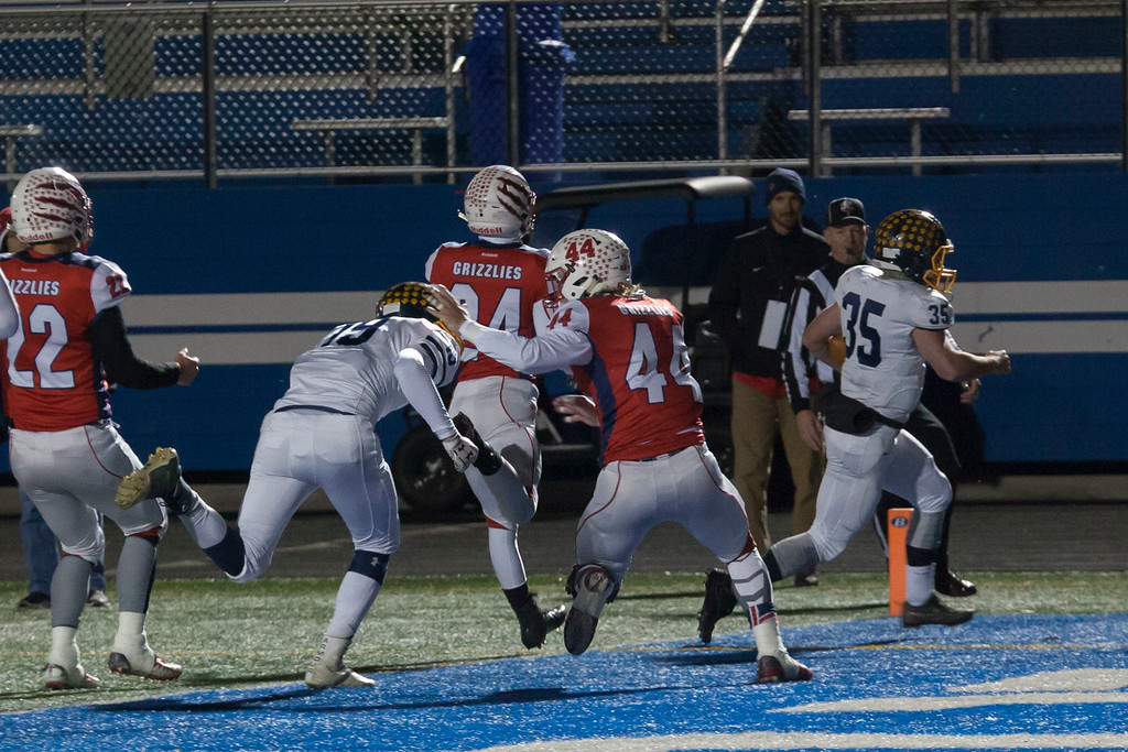 . Jen Forbus - The Morning Journal<br> Olmsted Falls\' Jack Spellacy waltzes into the end zone for a touchdown agains Wadsworth on Nov. 10.