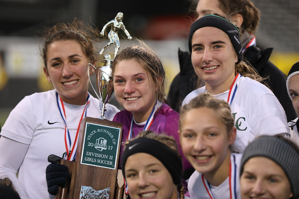 . David Thompson - The News-Herald Photos from the Lake Catholic vs. Indian Hill girls soccer Division II state final on Nov. 10, 2017, at MAPRE Stadium in Columbus.