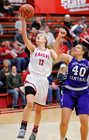 Don Knight |  The Herald Bulletin<br /> Frankton hosted Muncie Central on Saturday.