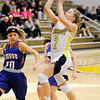 Don Knight | The Herald Bulletin<br /> Shenandoah's Kathryn Perry drives for a layup as the Raiders hosted the Elwood Panthers on Thursday.