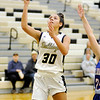 Don Knight | The Herald Bulletin<br /> Lapel's Makynlee Taylor shoots as the Bulldogs hosted the Elwood Panthers on Tuesday.