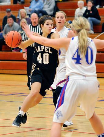 John P. Cleary | The Herald Bulletin  <br /> Lapel vs Elwood in girls basketball.