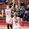 Don Knight | The Herald Bulletin<br /> Pendleton Heights' Sam Hammel drives for a layup as the Frankton Eagles hosted the Arabians on Saturday.
