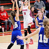 Don Knight | The Herald Bulletin<br /> Frankton's Addie Gardner pulls up for a jumper as the Eagles hosted Tipton on Thursday.