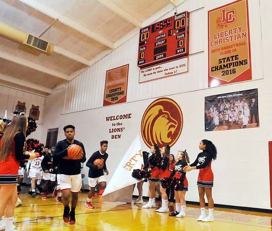 John P. Cleary    The Herald Bulletin<br /> Blackhawk Christian vs Liberty Christian in boys basketball.