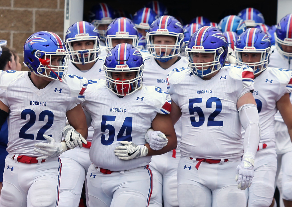 . Randy Meyers - The Morning Journal<br> The Bay Rockets are focused as they walk onto the field prior to a Sept. 2 game against University School.