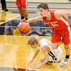 Don Knight | The Herald Bulletin<br /> Frankton's Ethan Bates steals the ball away from Lapel's Carson Huber as the Bulldogs hosted the Eagles on Saturday.