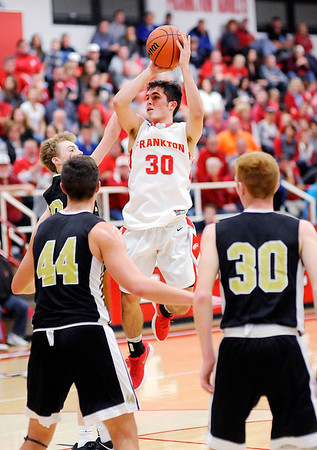 Don Knight |  The Herald Bulletin<br /> Frankton hosted Lapel on Saturday.