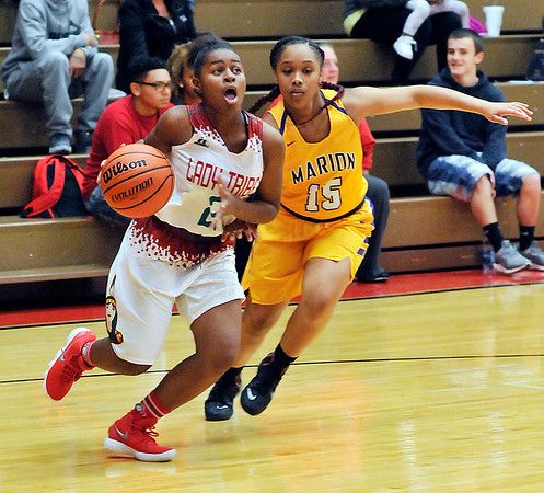 John P. Cleary |  The Herald Bulletin<br /> Marion vs AHS in girls basketball.
