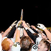 Don Knight | The Herald Bulletin<br /> The Lapel Bulldogs celebrate their sectional championship win over the Raiders at Shenandoah on Friday.