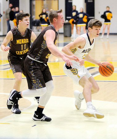 Don Knight |  The Herald Bulletin<br /> Shenandoah hosted Monroe Central on Saturday.