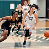 John P. Cleary | The Herald Bulletin<br /> Lapel's Morgan Knepp and Pendleton's Aubree Dwiggins race for the loose ball.