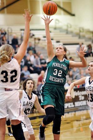 John P. Cleary |  The Herald Bulletin<br /> PH vs Lapel in girls basketball.