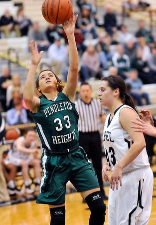 John P. Cleary    The Herald Bulletin<br /> PH vs Lapel in girls basketball.