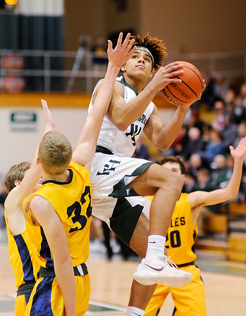 Don Knight    The Herald Bulletin<br /> Pendleton Heights hosted Delta on Wednesday.