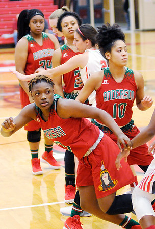 Don Knight |  The Herald Bulletin<br /> Anderson traveled to Fishers on Wednesday.
