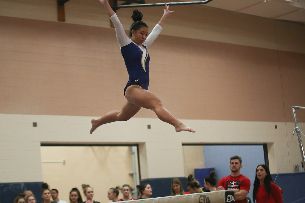 . Coleen Moskowitz - The News-Herald Photos from the gymnastics meet held Dec. 6, 2017, at West Geauga High School.