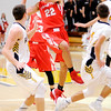 Don Knight | The Herald Bulletin<br /> Frankton's Maurice Knight looks to pass as he drives into the lane as the Eagles traveled to Shenandoah on Saturday.