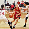 John P. Cleary |  The Herald Bulletin<br /> Frankton vs Alexandria in girls basketball.
