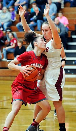 John P. Cleary    The Herald Bulletin<br /> Frankton vs Alexandria in girls basketball.