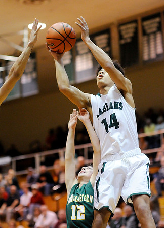 Don Knight   The Herald Bulletin<br /> Pendleton Heights hosted Northeastern on Saturday.