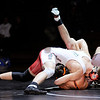 Don Knight |  The Herald Bulletin<br /> Anderson's Devon Browder pins Hamilton Heights' Sam Dunkelberger in the 160 pound match on Wednesday.