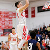 Don Knight |  The Herald Bulletin<br /> Frankton's Landon Weins shoots a basket as the Eagles hosted Oak Hill on Friday.