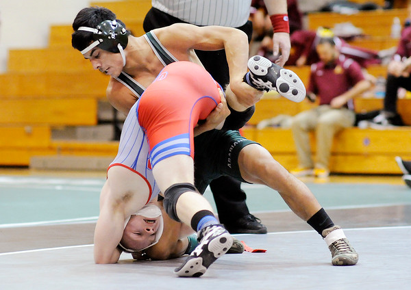 Don Knight   The Herald Bulletin<br /> County wrestling tournament at Pendleton Heights on Saturday.