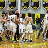 Barry Booher - The News-Herald<br /> Riverside celebrates its 58-57 victory over Harvey.