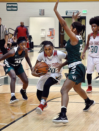John P. Cleary | The Herald Bulletin<br /> Pendleton Hts. vs Anderson girls in semi-final round of Madison County tourney.