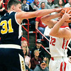 John P. Cleary |  The Herald Bulletin<br /> Shenandoah vs Frankton in boys basketball.