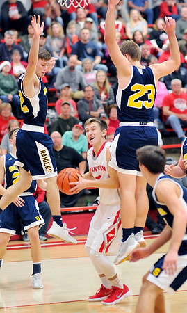 John P. Cleary |  The Herald Bulletin<br /> Shenandoah vs Frankton in boys basketball.