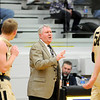 Don Knight | The Herald Bulletin<br /> Lapel coach Jimmie Howell instructs his team from the sidelines as he picks up his 600th career win as the Bulldogs beat the Daleville Broncos 62-55 on Saturday.